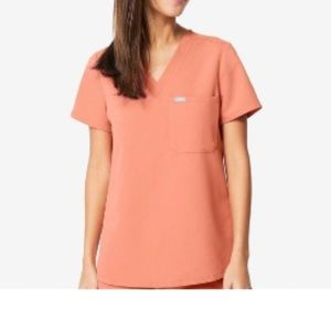 Coral figs scrubs